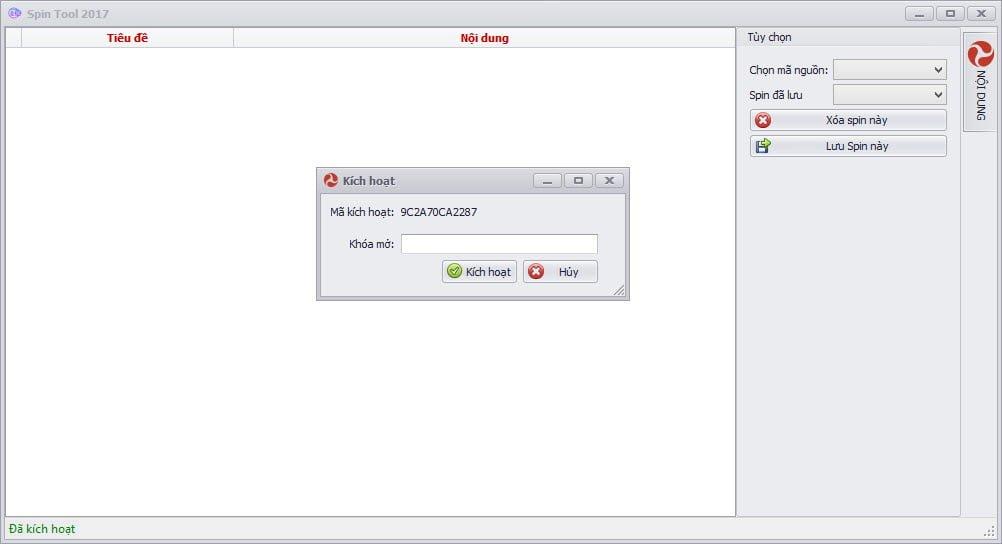 Phần mềm SPIN này không Free