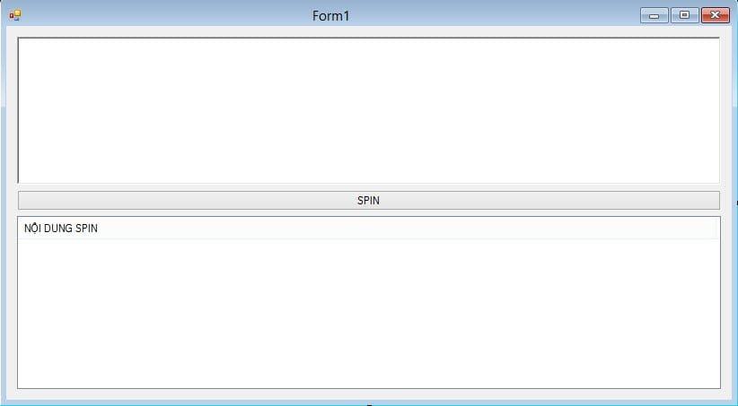 Giao diện phần mềm spin đơn giản