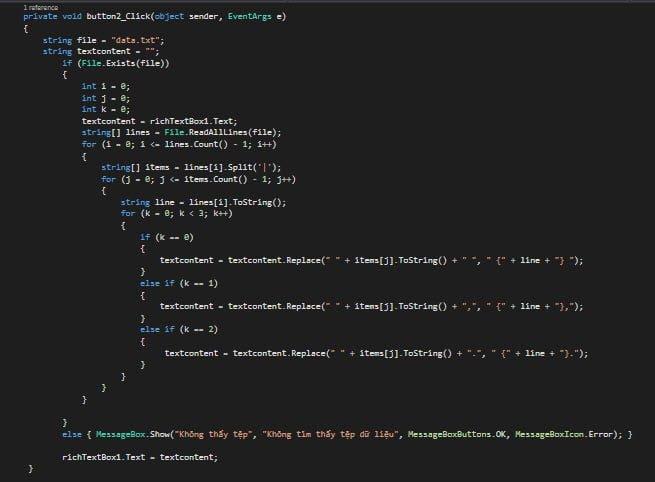 Đoạn mã áp dụng nội dung spin cho content soạn sẵn