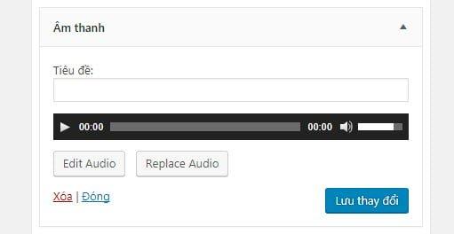 Widget âm thanh trong WordPress 4.8