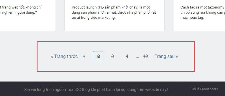 Hướng dẫn tạo custom pagination phân trang trong WordPress