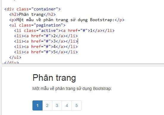Mẫu phân trang sử dụng Bootstrap
