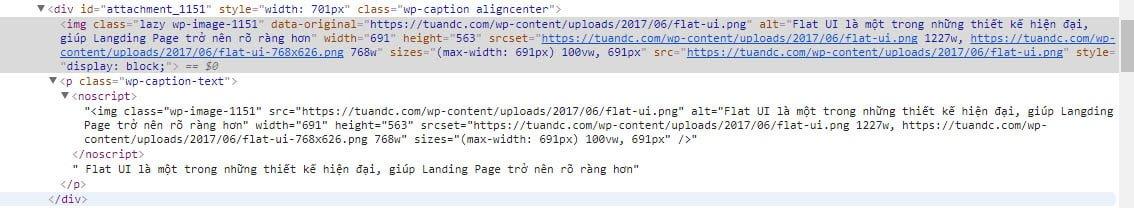 Đây là đoạn mã hiển thị trên trình duyệt hỗ trợ Javascript