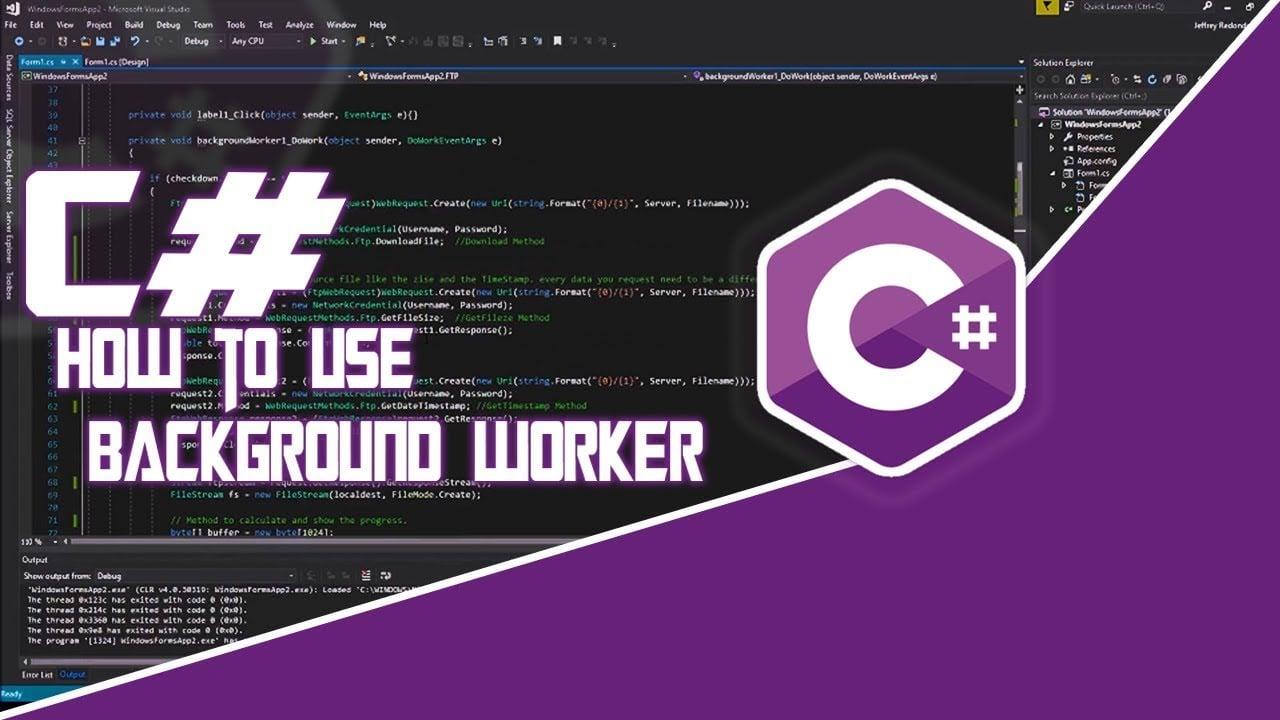 Sử dụng Background worker để chạy nền trong C#