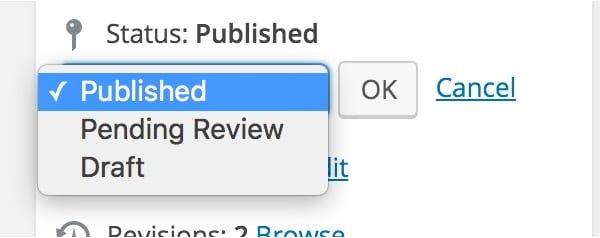 Tạo thêm trạng thái bài viết trong WordPress không dùng Plugin