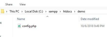 Tạo tệp tin có tên config.php để kết nối đến cơ sở dữ liệu