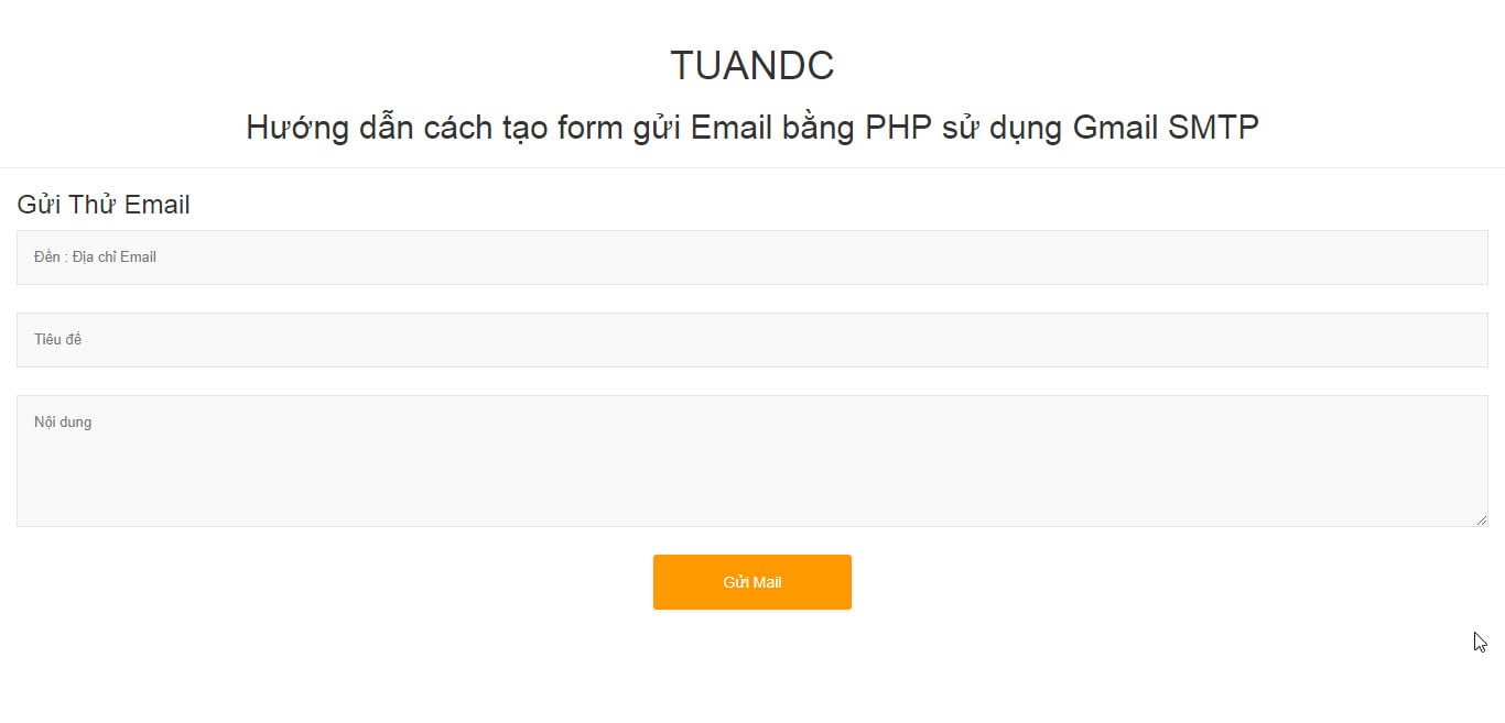 form html send mail