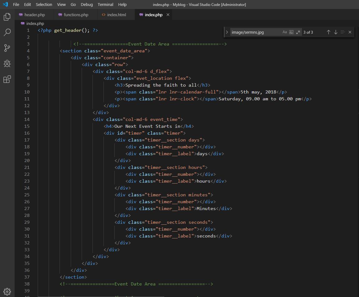 code phần thân index
